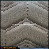 Cuoio dell'unità di elaborazione di Stiched Microfiber della spugna per i coperchi di sede dell'automobile Hx-W1704