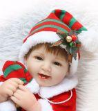 18 بوصة عيد ميلاد المسيح دمية سليكوون [ربورن] واقعيّة [ربورن] طفلة دمى