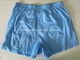 Biancheria intima degli uomini di Short del pugile tessuta cotone del PUNTINO di modo degli uomini