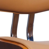 Présidence dinante en cuir de Faux de contre-plaqué (W13848-4)