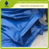 610GSM 파란 색깔 PVC는 트레일러 덮개를 위한 직물 방수포를 입혔다