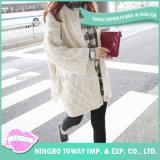 Camisola Hand Knitted da menina do algodão do fio da alta qualidade