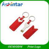 Unidade Flash USB de couro Metal pendrive USB Key Shape Stick USB
