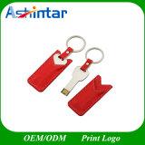 Bastone chiave di cuoio del USB di figura del USB Pendrive del metallo dell'azionamento dell'istantaneo del USB