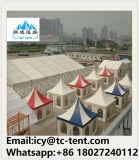 tenda della festa nuziale del Gazebo del Pagoda di cerimonia nuziale bianca di 10X10m grande con le tende & i rivestimenti