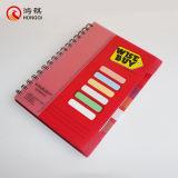 Красный PP спирали крышки ноутбука