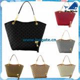 Tipo donne nere del Tote Bw1-069 della borsa del sacchetto di sport dei sacchetti di cuoio