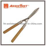La gota resistente de la lámina forjó esquileos del seto con las manetas de madera