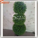 Шарик лужайки Boxwood зеленого шарика орнамента m стены голубого искусственний