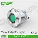 luz de indicador de la señal LED del metal de 22m m
