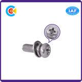 DIN/ANSI/BS/JIS Carbon-Steel/Stainless-Steel 4.8/8.8/10.9 Phillips galvanizado Tornillos de cabeza plana para maquinaria e industria