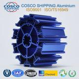 Perfil de aluminio para el disipador de calor con la anodización y trabajar a máquina azules