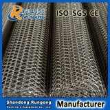 Bande de conveyeur d'acier inoxydable 304 316 pour transporter en boisson de nourriture