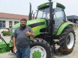 entraîneur agricole de Foton à roues par 150HP de ferme de 80HP 100HP 120HP avec la remorque de cabine de climatiseur de la CE