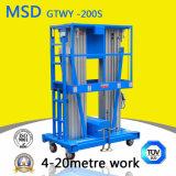 Plataforma de elevação hidráulico tipo de mastro de elevação de liga de alumínio Gtwy6/8/9/10/12 M-200s mesa de elevação de alumínio