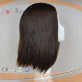 실크 최고 인간적인 Virgin 머리 실크 최고 여자 유태인 가발 (PPG-l-01535)
