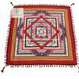 Form-Twill-Baumwollschal-geometrisches gedruckt mit Troddel-Quadrat-Schal