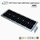 2017 nuevo tipo luz de calle solar toda junta del LED 40W