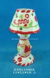 Supporto di candela di ceramica dipinto a mano di Tealight
