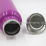 bottiglia doppia dell'acciaio inossidabile di qualità 25oz con la bottiglia di acqua di vuoto del coperchio del metallo