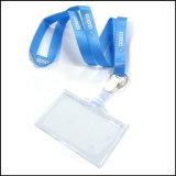 クリップ(NLC020)が付いている拡張可能で安いName/IDのカードのバッジの巻き枠ホールダーのカスタム締縄