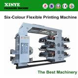 Machine d'impression flexible de lettre de six couleurs