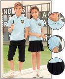 Uniforme scolastico primario della maglietta di polo per estate