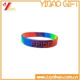 Braccialetto variopinto su ordinazione di vendita caldo del silicone, Wristband del silicone per la promozione