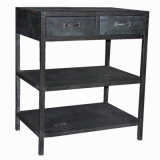 Antigüedades de estaño galvanizado Cabinet Office Furniture Mueble de casa
