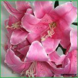 結婚式のホーム装飾のための人工花ユリの偽造品の花