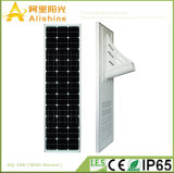 100W 25 anni del comitato solare di tempo tutto di vita in un fuori indicatore luminoso di via solare dell'indicatore luminoso di portello LED