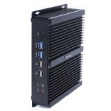 Computador industrial áspero duplo do LAN I3-4010u mini
