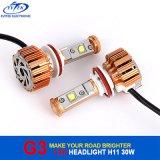 自動車30Wクリー族H11 LEDのヘッドライト6000kの車LEDのヘッドライト、LEDの自動ヘッドライトH1 H3 H7 H13 9005 9006
