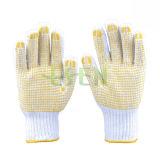 Пвх пунктирной рабочей рукавицы/безопасность рабочей Перчатки рабочие перчатки с покрытием из ПВХ