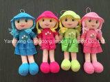 Plüsch-weiche Lappen-Puppen mit schönem Kleid