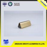 Алюминиевое штранге-прессовани с золотистой поверхностью электрофореза