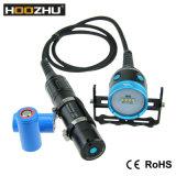 最大4000lumensのHoozhu Hv33のダイビングのビデオライトは100metersを防水する