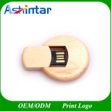 Cross Round Wooden USB Flash Drive Swivel USB Stick