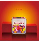 B8078 em acrílico transparente de recordações compartimentos caixa de loteria portátil de tamanho grande