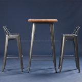 A tabela e a cadeira francesas industriais da barra de metal de Tolix ajustaram-se (SP-BT701)