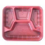 La tapa de plástico que forma la máquina para la torta de la caja