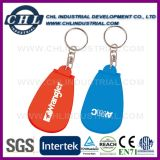Logo en forme de capsule Logo personnalisé Boîte à pilules en plastique avec porte-clés