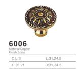 Tirón de cobre amarillo antiguo de la maneta de la cabina del tirón de la maneta 2016 (6006)