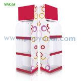 Affichage de la palette de plancher en carton avec étagères, présentoir en carton ondulé