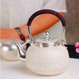 Argent Sterling Silver japonais Pot clous théière Pot d'argent nécessaire à thé de Kung Fu à la main