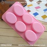 2017 estaños de la torta del silicón del jabón del color de rosa del nuevo producto con alta calidad