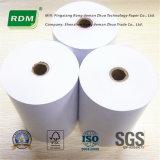 De una capa de rollo de papel bond para caja registradora electrónica DOT Matrix.