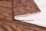 Coperta su ordinazione della coperta di Sherpa/del panno morbido prodotto del bambino - verde