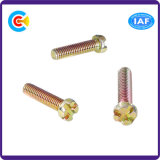 Aço de carbono / 4.8 / 8.8 / 10.9 / M12 Cor Zinco Customized Fastener Double V Head Screw