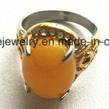 Anillo de dedo de la piedra preciosa del negro de la joyería del cuerpo de la manera (SCR2886)